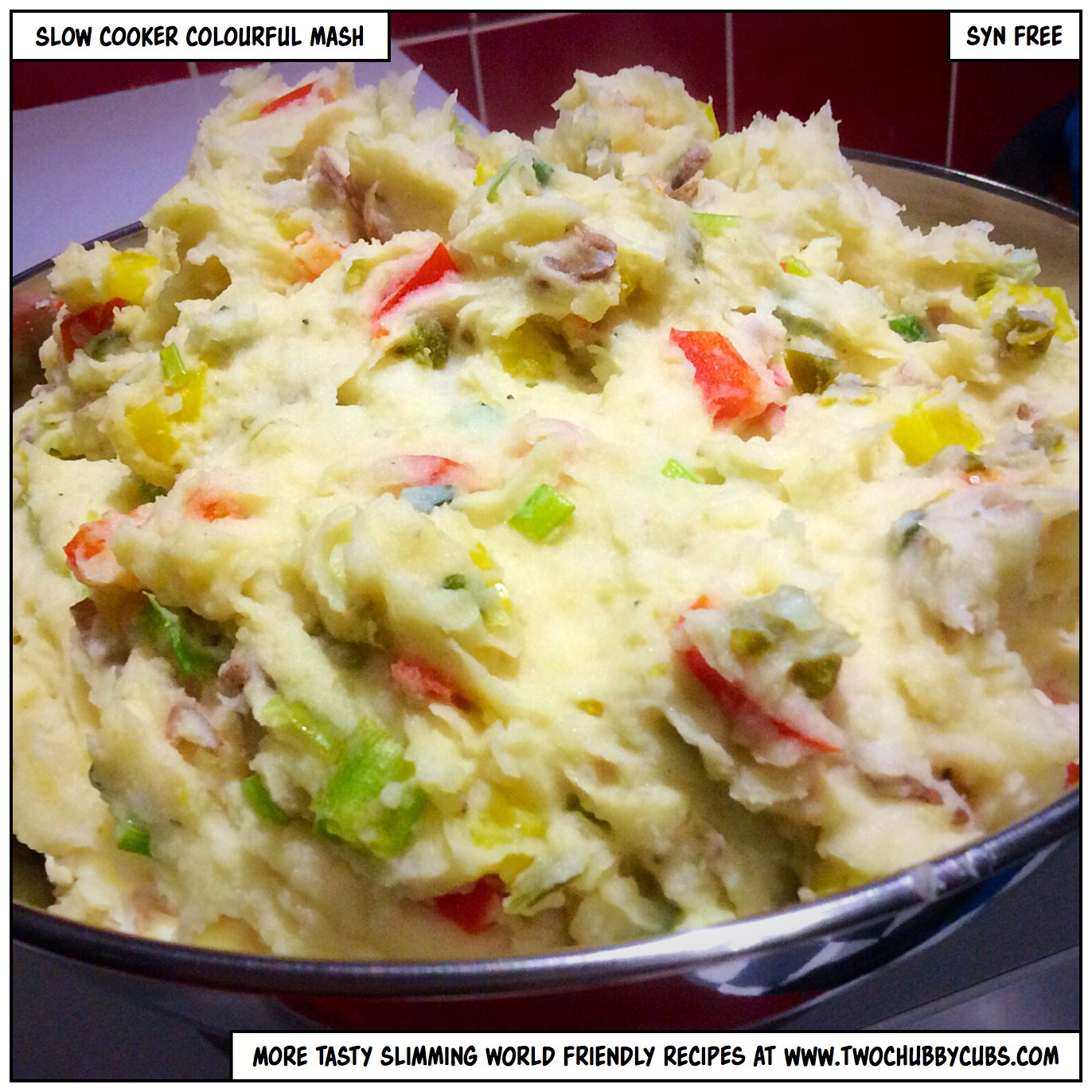 Slow cooker colourful mash Slimming world meals for one person