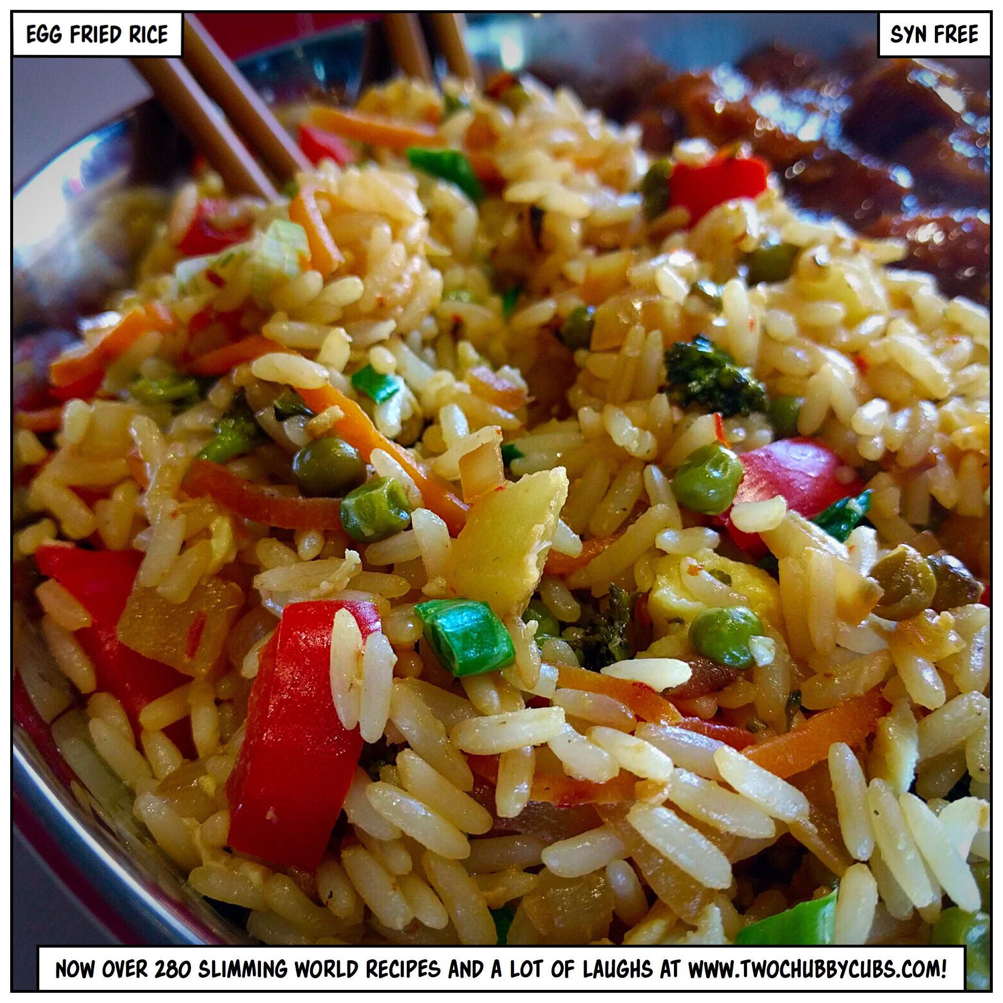 Syn Free Egg Fried Rice Twochubbycubs