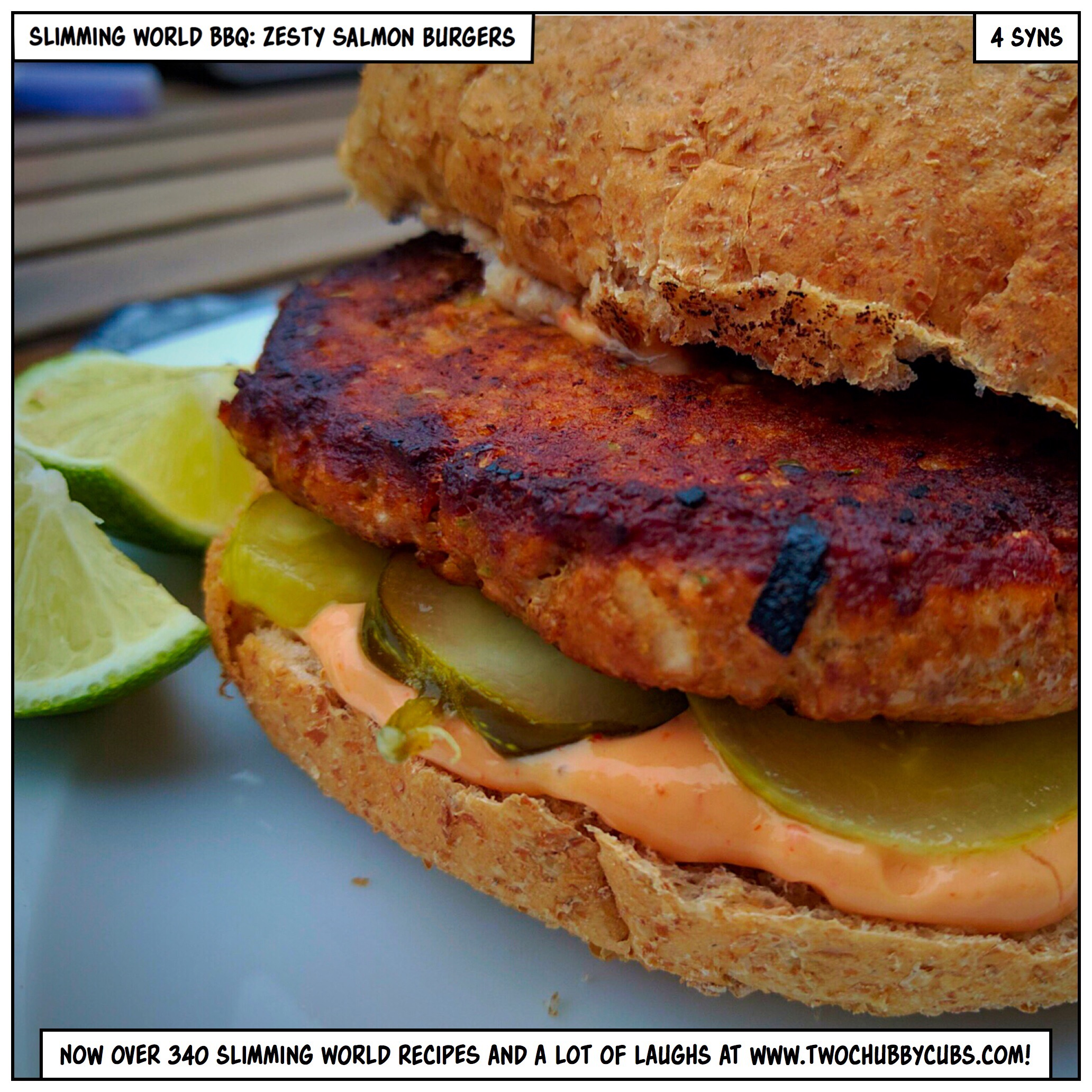 Slimming World Bbq Zesty Salmon Burgers And A Radish And