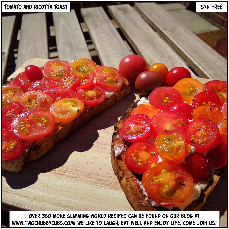 tomato and ricotta breakfast toast