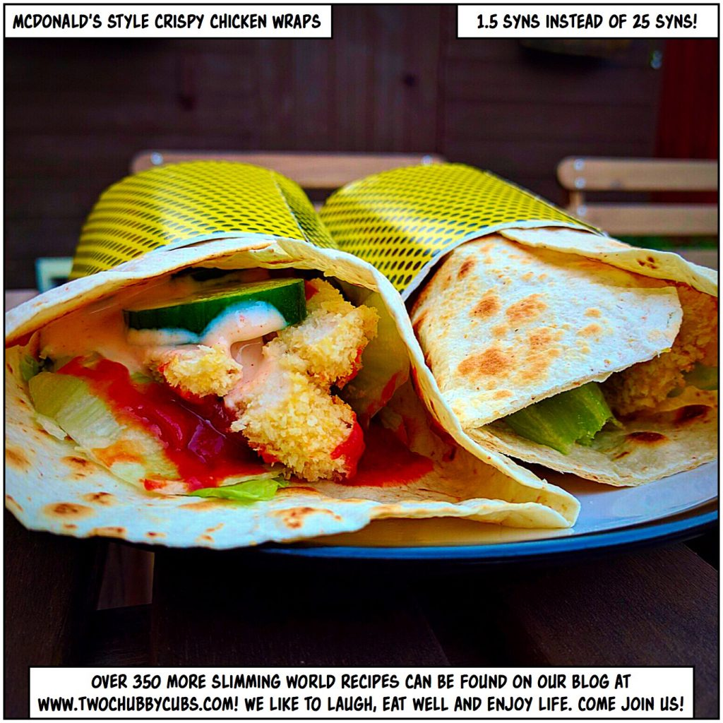 mcdonalds-style crispy chicken wraps