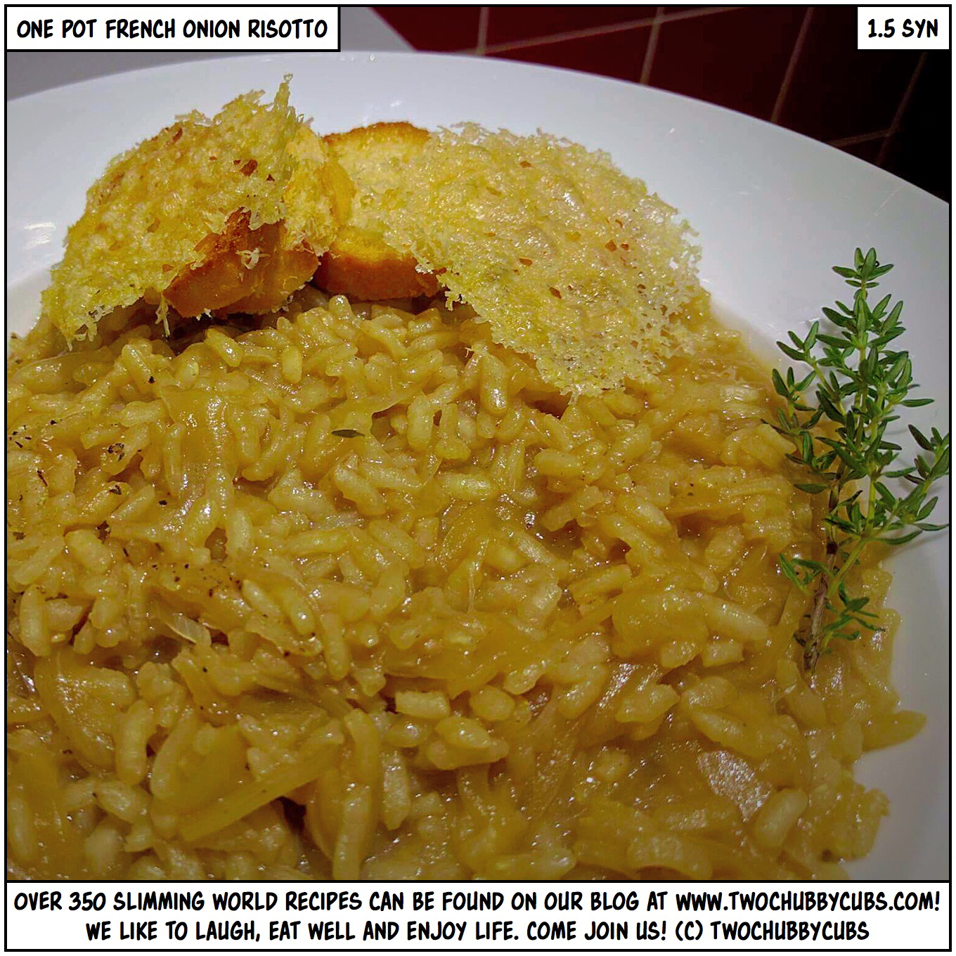 french onion risotto with grilled cheese