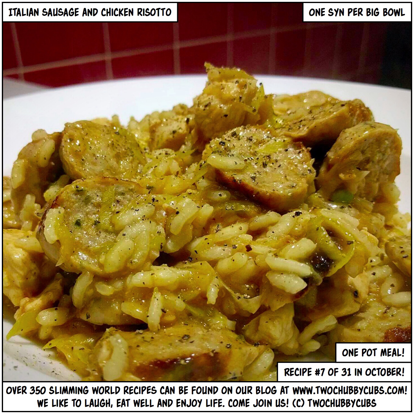 italian sausage and chicken risotto