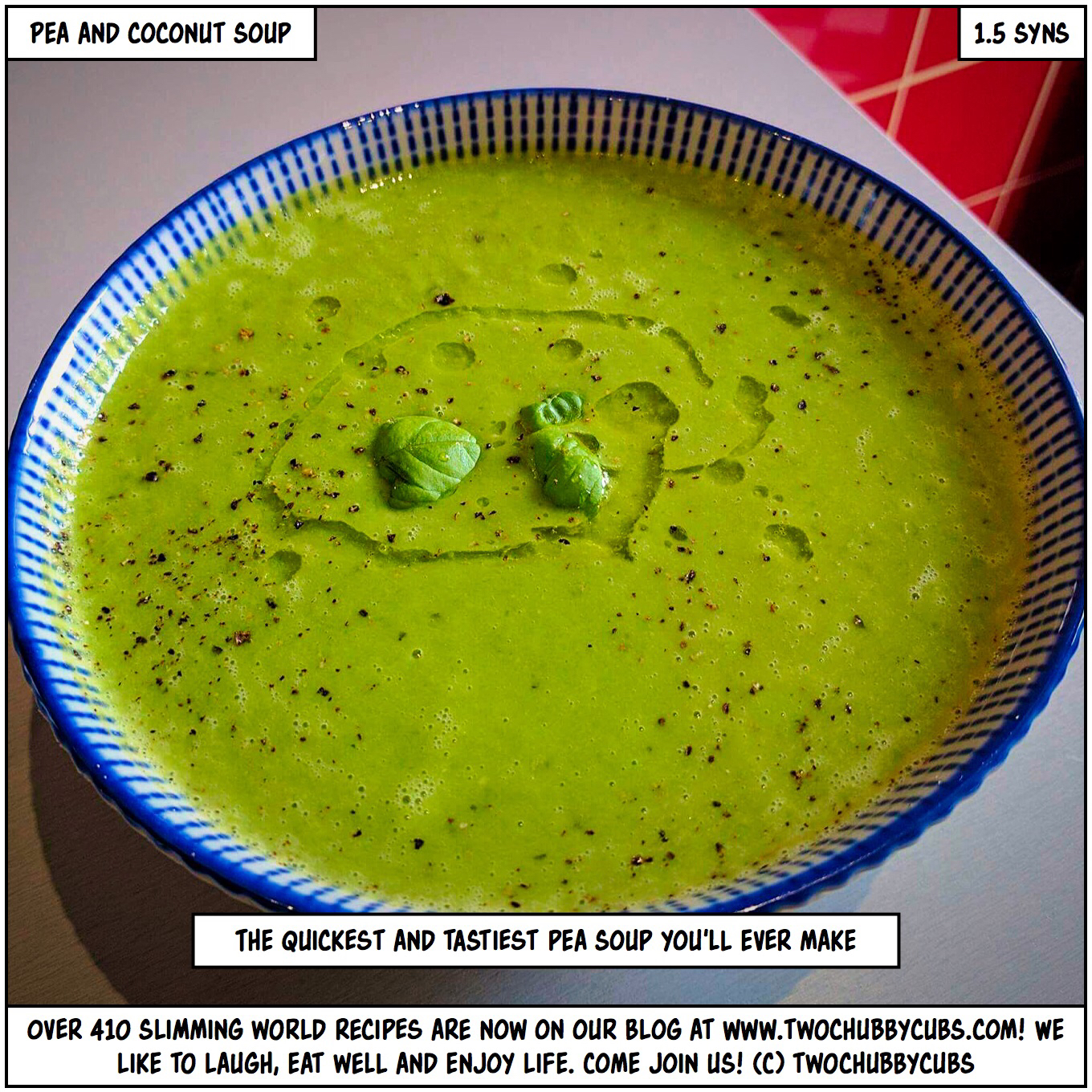 Pea And Coconut Soup A Perfect Slimming World Lunch