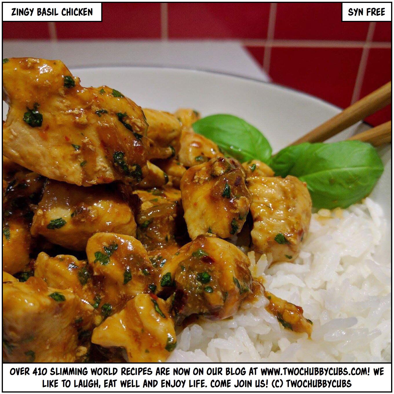 zingy basil chicken - a perfect Slimming World fakeaway dish!