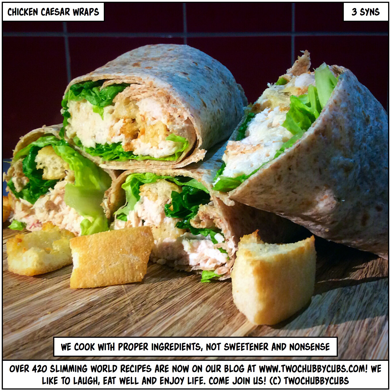Chicken Caesar Wraps With Perfect Shredded Chicken