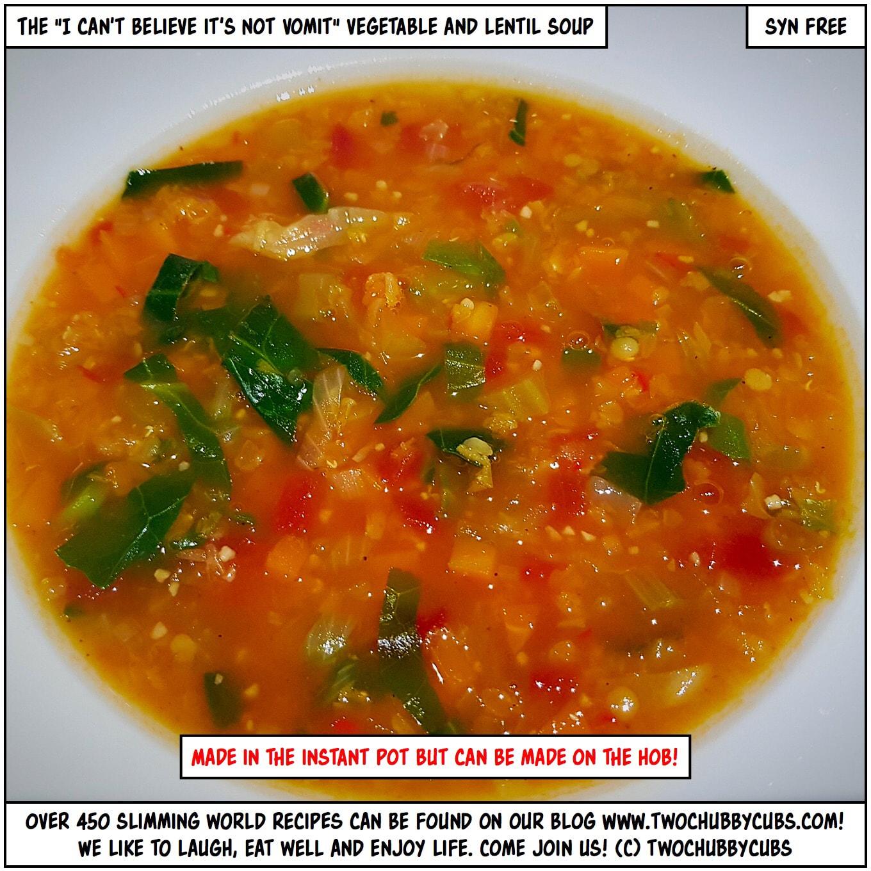 Lentil And Vegetable Soup Instant Pot Hob Or Slow Cooker