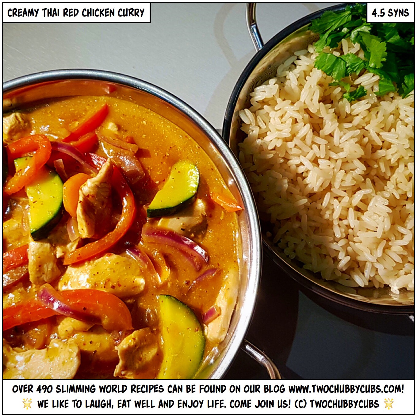 Creamy Thai Red Chicken Curry Packed With Veg Twochubbycubs