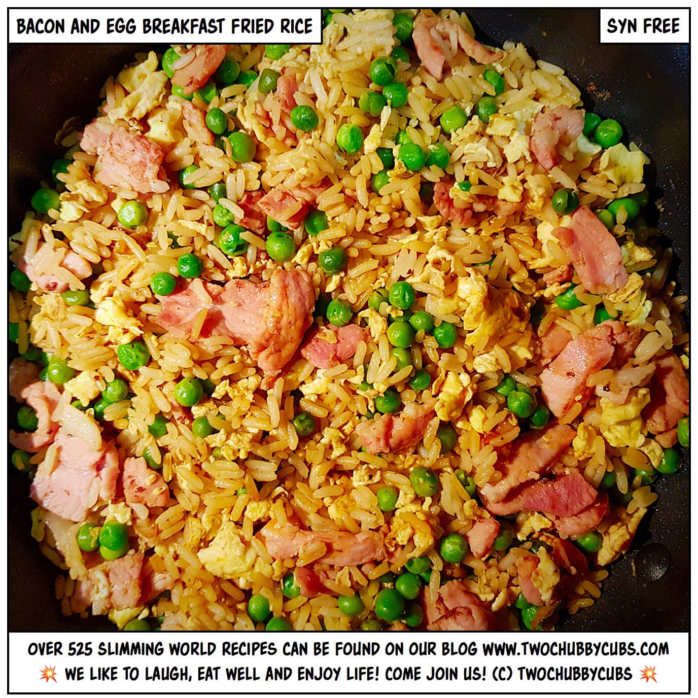 Bacon and egg fried rice perfect for breakfast twochubbycubs ccuart Choice Image