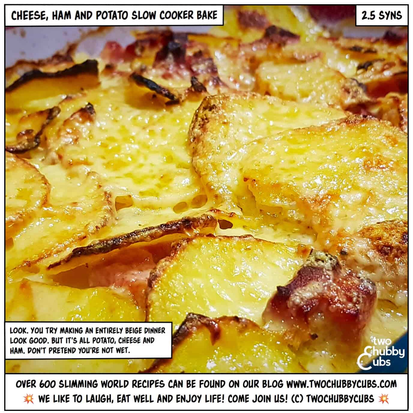 Cheese Ham And Potato Bake Done In The Slow Cooker